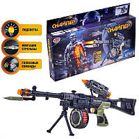 Автомат PLAY SMART Снайпер  на батарейках с звуковыми и световыми эффектами, голосовые команды