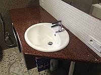 Столешница для ванной комнаты, красного цвета ( Лезники)