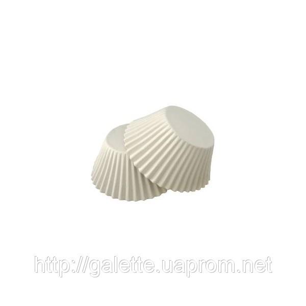 Форма/мафина белые 3х4,5см.(низкие)