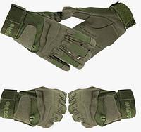 Тактические полнопалые перчатки Black hawk олива