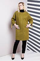 Женское пальто OVERSIZE 48-62р, горчица
