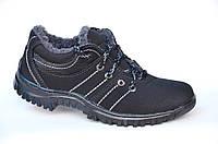 Зимние спортивные ботинки мужские, кроссовки, два вида, нубук, эко кожа. (Код: 996)