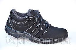Зимние спортивные ботинки мужские, кроссовки, два вида, нубук, эко кожа. Только 40р! (Код: 996)