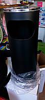 Урна Feniks чорна, пр-ль Польща, для паління сміття, висота 60 см, діаметр 24 див