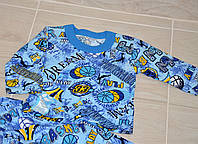 Пижама теплая из хлопка с начесом 24 размера для мальчика