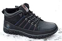 Ботинки полуботинки кроссовки зимние мужские черные на молнии Fashion (Код: 297а). Только 40р!, фото 1