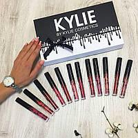 Набор жидких матовых помад 12 штук Kylie by Kylie Cosmetics  (реплика), фото 1