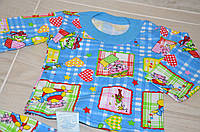 Теплая пижама из хлопка с начесом 24 размера  для девочек