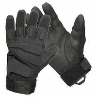 Тактические полнопалые перчатки Black hawk черные