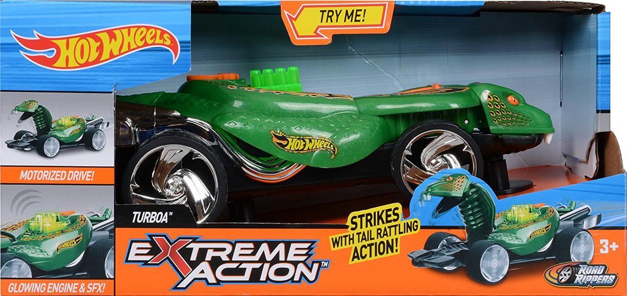 Машина Хот Вилс Hot Wheels Змея кобра свет и звук 23 см Extreme Acton Lights and Sounds Turboa 90514