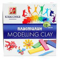 Пластилін Промінь Класика 12 кольорів