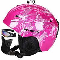Горнолыжный / сноубордический шлем DOTOMY MOON (Pink + White Flower)