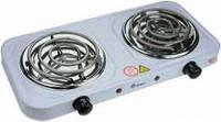Электро плита на 2 комфорки  Domotec MS-5802 (Спиралевая с керамическим напылением)