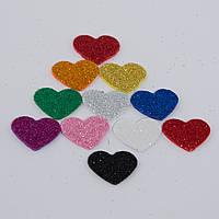 Сердечки из фоамирана, размером 2.4 см