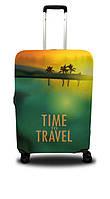 Чехол для чемодана Coverbag пальмы M зеленый