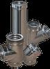 Дымоход двустенный d=160/220 мм  из нержавеющей стали 1 мм в оцинкованном кожухе