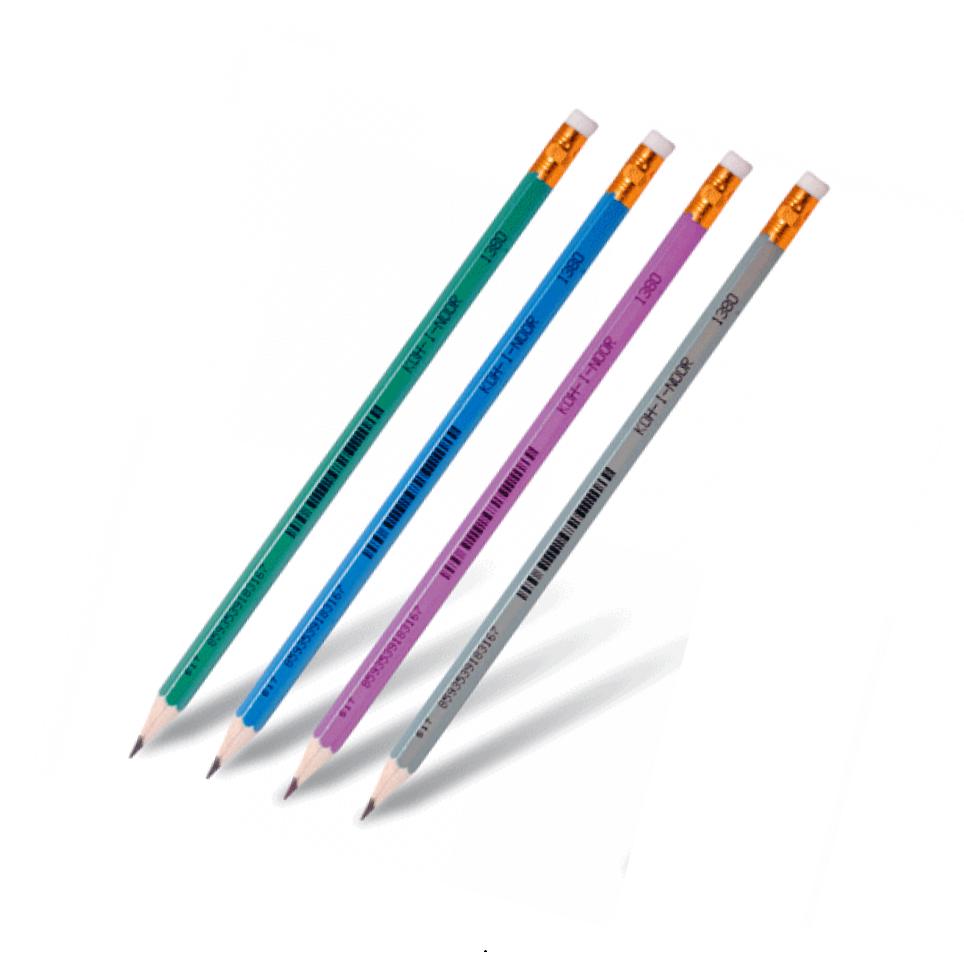 Олівець чорнографітний HB з гумкою KIN 1380