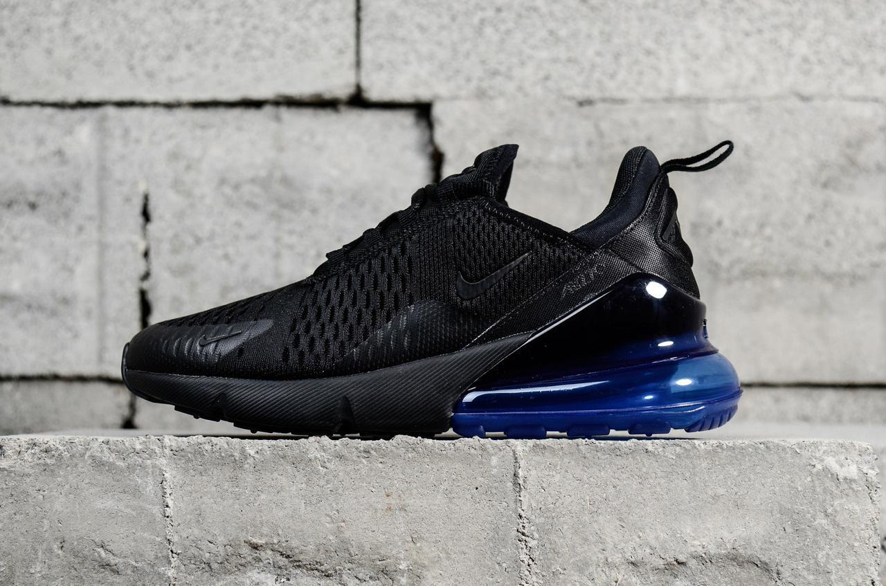 Кроссовки Nike Air Max 270 Black Blue, цена 1 299 грн., купить в ... 10af8341520