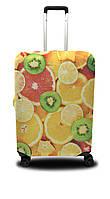 Чехол для чемодана Coverbag апельсины M оранжевый