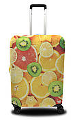 Чехол для чемодана Coverbag апельсины L оранжевый