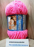 Детская плюшевая пряжа(100%-полиэстер, 100 г/ 95 м) Kartopu Yumurcak 0005(розовый)