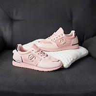 Стильные женские розовые кроссовки Шанель