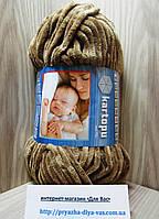 Детская плюшевая пряжа(100%-полиэстер, 100 г/ 95 м) Kartopu Yumurcak 0041(коричневый)