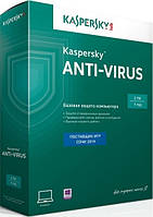 Kaspersky Anti-Virus 2014 2 ПК Box на 1 год