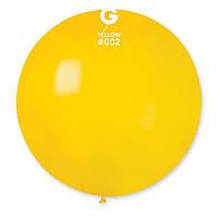 """Шар сюрприз 31"""" 80 см пастель желтый"""