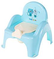 Горшок-кресло Tega Cat & Dog бирюзовый