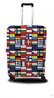 Чехол для чемодана Coverbag флаги мира S сине-красный
