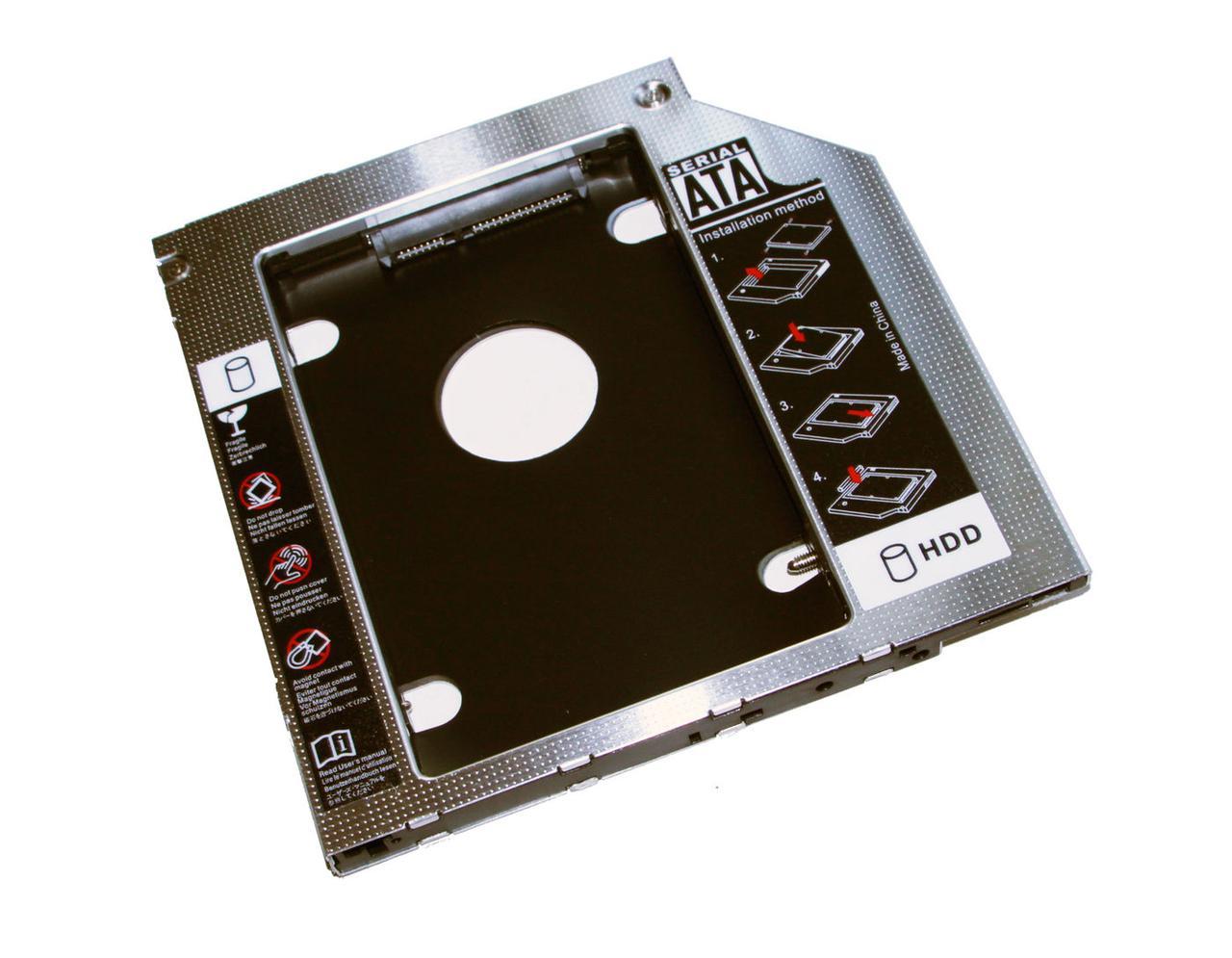 Шасси для ноутбука (Laptop 2nd HDD Frame) HQ-Tech HQ-HC09SA/BP, 9.5mm, SATA, алю
