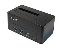 Док-станция 2,5'/3,5' Maiwo K308H для HDD 2,5'/3,5' SATA через 3*USB3.0 пластик черн.