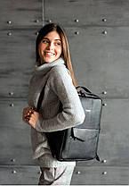 Кожаный городской рюкзак на молнии COOPER - НУАР, фото 3