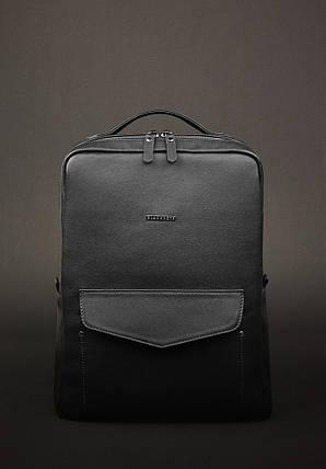 Кожаный городской рюкзак на молнии COOPER - НУАР, фото 2