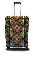Чехол для чемодана Coverbag украинский орнамент L желто-красный