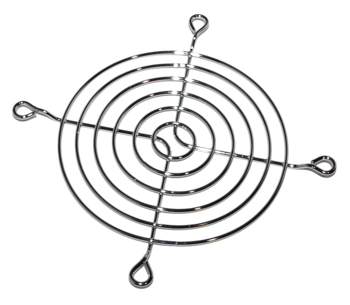 Решетка для вентиляторов 92mm, Merlion Silver