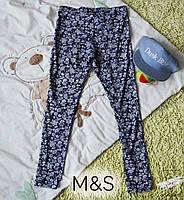 Леггинсы M&S с цветочным узором р.164 на девочку синие