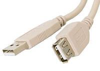 Кабель - удлинитель USB 2.0 - 1.8м AM/AF Atcom феррит фильтр белый