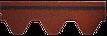 Битумная черепица RUFLEX SOTA - Красный крыжовник, Red Gooseberry, фото 3