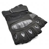 Тактические беспалые перчатки Oakley черные