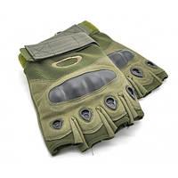 Тактические беспалые перчатки Oakley олива