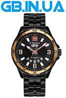 Мужские часы Naviforce Magnat PLUS Black Gold 1 ГОД ГАРАНТИИ! (+Видео)
