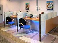Столы с перегородками для банков