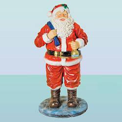 Новогодняя садовая фигура Дед Мороз Филиппинский (Н)