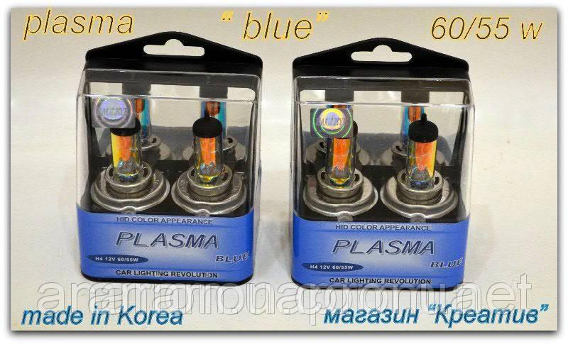 Лампа галогенная H4,60/55W 12V P43T на ВАЗ 2109 Plazma Blue