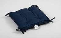 Подушка на стул Lotus Optima с завязками синяя 40*40*5