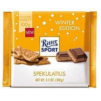 Шоколад Ritter Sport Spekulatius ( с имбирным печеньем) Германия 100г