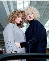 Женское пальто OVERSIZE 48-62р, серый