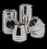 Дымоход двустенный d=150/220 мм из нержавеющей стали 0,5 мм в нержавеющем кожухе